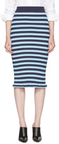 Altuzarra Blue Striped Bloomfield Skirt