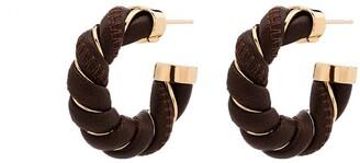 Bottega Veneta Twist Hoop Earrings