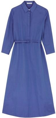 The Row Tanita Blue Cotton Shirt Dress
