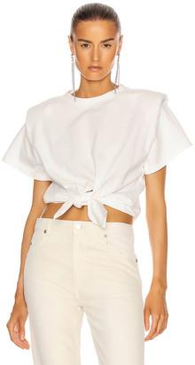 Isabel Marant Belita Tee Shirt in White | FWRD