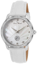 Lucien Piccard White & Mother-of-Pearl Balarina Leather-Strap Watch - Women
