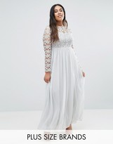 Club L Plus Maxi Dress With Crochet Top