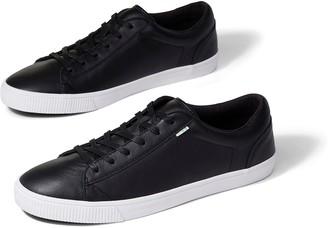 Toms Black Leather Men's Carlson Sneaker