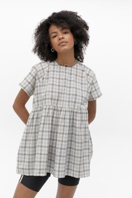 Urban Outfitters Cody Babydoll Mini Dress - grey XS at