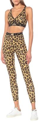 Adam Selman Sport Bonded leopard-print sports bra