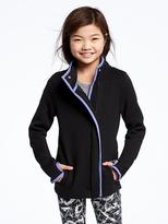 Old Navy Go-Warm Wrap-Front Fleece Jacket for Girls