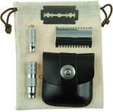 Geo F. Trumper Double Sided Travel Razor in Leather Case