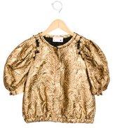 Lanvin Petite Girls' Metallic Brocade Jacket