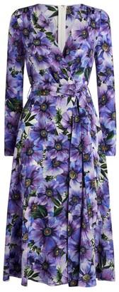 Dolce & Gabbana Floral Wrap Dress