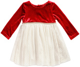 Youngland Red & White Pin Dot A-Line Dress - Toddler & Girls