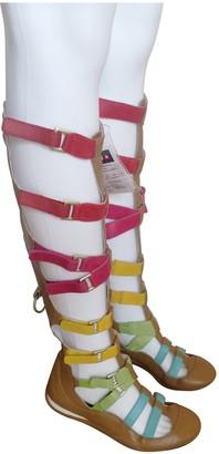 JC de CASTELBAJAC Multicolour Leather Sandals