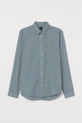 H&M Slim Fit Easy-iron Shirt - Turquoise