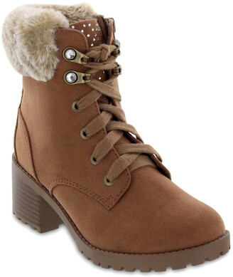 Mia Keylah Faux Fur Chunky Boot