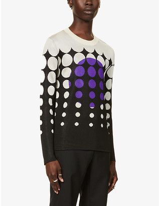 Paco Rabanne Graphic-print knitted jumper