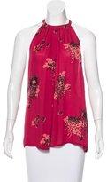 A.L.C. Silk Floral Print Top