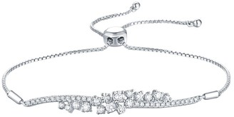 Lab Grown Diamond Bar Bolo Bracelet, 5/8 Ctw 14K Solid Gold by Smiling Rocks