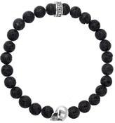 King Baby Studio Men's Lava Rock Bead Bracelet