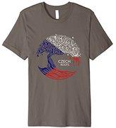 Women's Czech Roots Flag Pride Tree Shirt XL