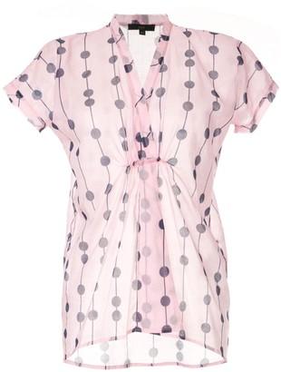 Jejia dot print v-neck shirt