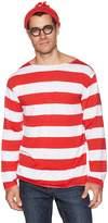 Elope Where's Waldo Adult Costume Kit, Red/White