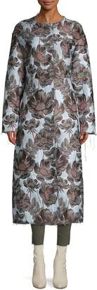 Marni Floral-Print Long Coat