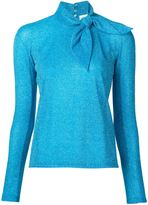 DELPOZO metallic tie collar blouse