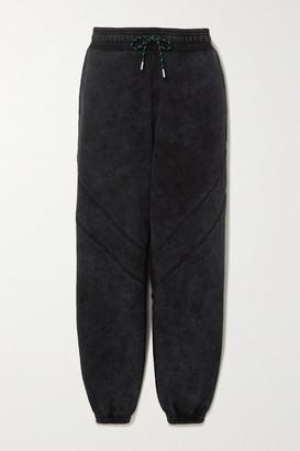 Ninety Percent + Net Sustain Sprayed Organic Cotton-terry Track Pants - Black