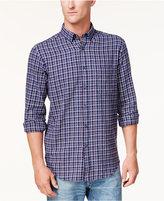 Club Room Men's Plaid Flannel Button-Down Shirt