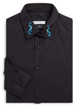 Versace Baroque Collar Dress Shirt