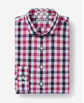Express slim fit small check dress shirt