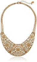 "Nine West VINTAGE AMERICA ""Floral Filagree"" Drama with Crystal Necklace, 16"""