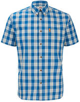 Fjäll Räven Men's Ovik Button Down Short Sleeve Shirt Lake Blue