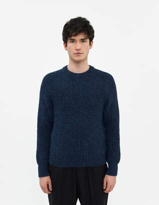 Our Legacy Men's Heavy Chunk Raglan Fuzzy Deep Sea, Size 46   Wool