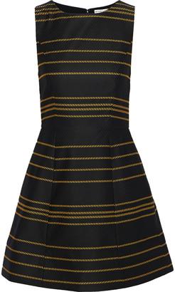 Alice + Olivia Lindsey Flared Striped Ottoman Mini Dress