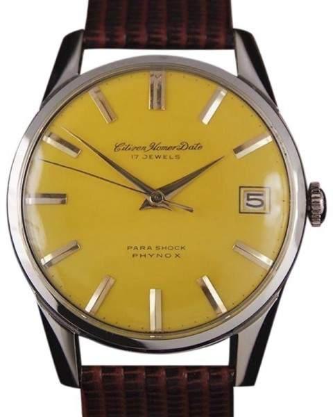 Citizen Homer DSI45 Stainless Steel Manual Vintage 36mm Mens Watch