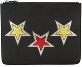 Givenchy star patch clutch - men - Leather - One Size