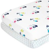 Nurseryworks Nursery Works Wee Gallery Oceanography Organic Cotton Percale Crib Sheet