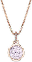 Thomas Sabo Pink Crystal Pendant Necklace in 18k Rose Gold-Plated Sterling Silver