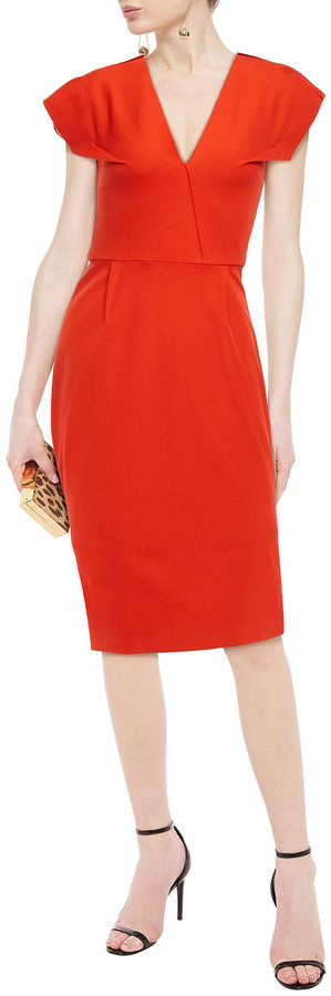 Thumbnail for your product : Roland Mouret Cotton-blend Twill Dress