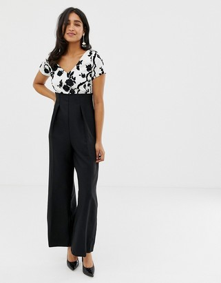 Closet London Closet Short Sleeve Cut Out Back Jumpsuit