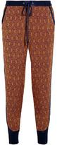 3.1 Phillip Lim Silk Satin-trimmed Jacquard Tapered Pants - US4
