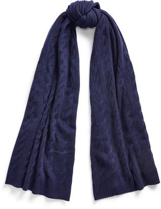Ralph Lauren Cable-Knit Cashmere Scarf