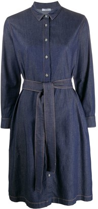 Peserico Long Sleeve Denim Shirt Dress