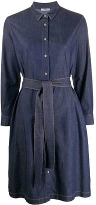 Peserico Long Sleeve Denim Shirt Dress