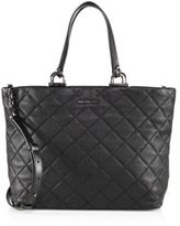 MICHAEL Michael Kors Quilted Large East West Leather Tote