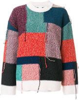 Stella McCartney knitted patchwork jumper
