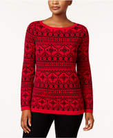 Karen Scott Cotton Fair-Isle Sweater, Created for Macy's