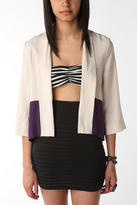 Silence & Noise Colorblock Mix Fabric Jacket