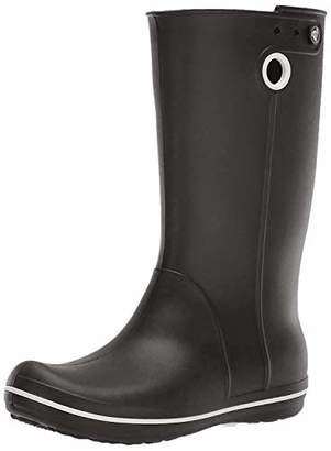 Crocs Women's Crocband Jaunt Rain Boot | Waterproof Rain Boot| Easy On Ankle Boot