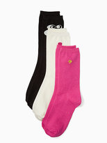 Kate Spade Symbol sparkle sock set